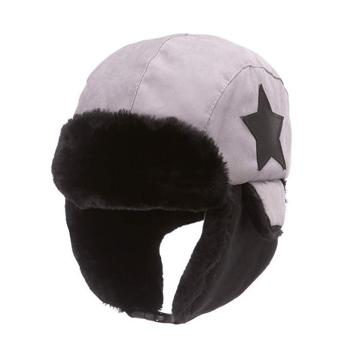 eb89f12cf2454 Boys Winter Hats Big Kids Cowboy Cloth/Aviator Winter Earflap Cap