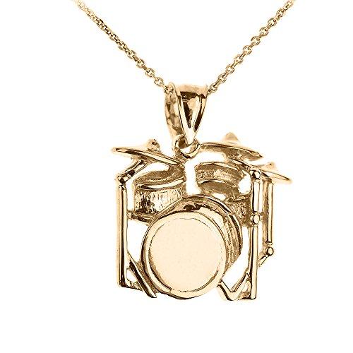 d Music Charm Drum Set Pendant Necklace, 22