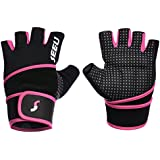 """SEEU Women's Men's Weight Lifting Gloves with 17.5"""" Wrist Wrap for WOD, Gym Workout, Cross Training, Fitness 5 colors Size XS-XL (1 pair)"""