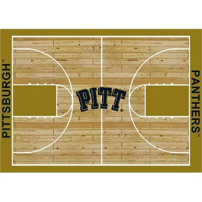 (College Court Pittsburgh Panthers Rug Size: 10' 9