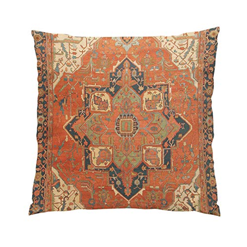 Suike Flying Carpet Ride Romantic Hidden Zipper Home Sofa Decorative Throw Pillow Cover Cushion Case Square 18x18 Inch Two Sides Design Printed - Damask Canvas Rug