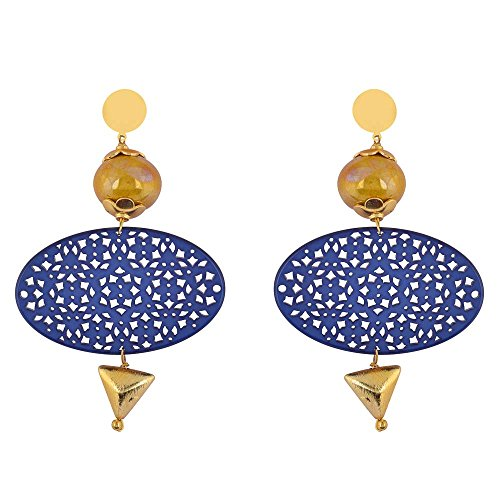 Shaze Gold Colored Timeless Serenade Earrings for Women by shaze