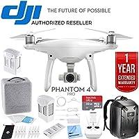 DJI Phantom 4 Pro Quadcopter Drone Camera with Battery, Charging Hub, Custom Backpack and 64GB Memory Card (CP.PT.000488) (Phantom 4 Pro Ultimate Bundle)