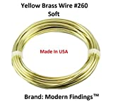 14 Ga Brass Round Wire 1/2 Lb. - 40 Ft. Coil (#260 Solid Raw Bare Brass)