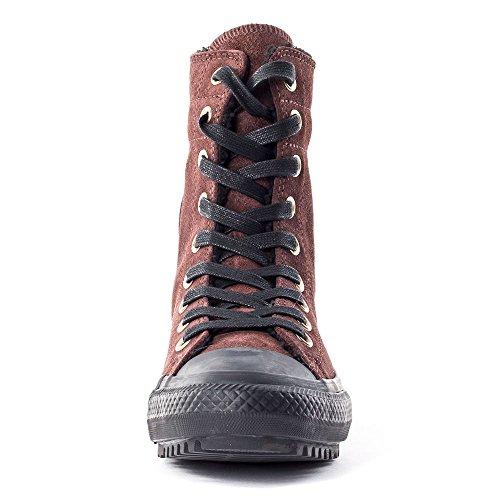 Converse Chuck Taylor Hi-Rise Boot Womens Suede Trainers Burnt Hena - 35 EU