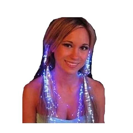 Drawihi - Extensiones luminosas con luz LED de colores para un pelo de fiesta de mujeres