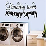 Best Decals Bathroom Laundries - BIBITIME Laundry Room Vinyl Decal Bubble Wall Decor Review