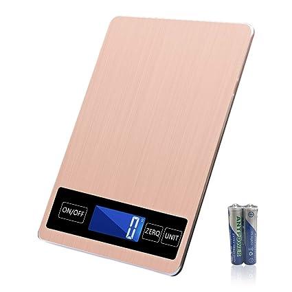 LAOPAO Escala Digital, Balanza de Cocina USB Báscula Electrónica de Alta Precisión para Alimentos 5kg