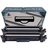 Triple Best Set of 2 Remanufactured CF217A 17A Black Toner Cartridge for HP 17A CF217A Toner Cartridge for HP LaserJet Pro MFP M130fn M130fw M102w M130nw M102a M130a