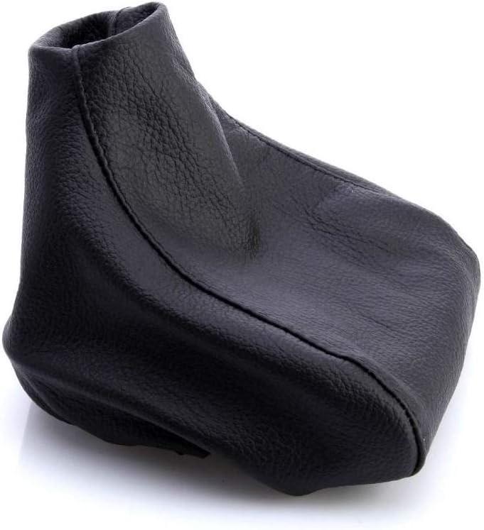 Myshopx SA70 Soufflet de levier de vitesse en cuir v/éritable Noir