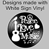 Peace Love Music Quote on a Repurposed Upcycled