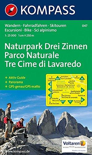 Drei Zinnen/Tre Cime di Lavaredo 1 : 25 000 (KOMPASS-Wanderkarten, Band 47)