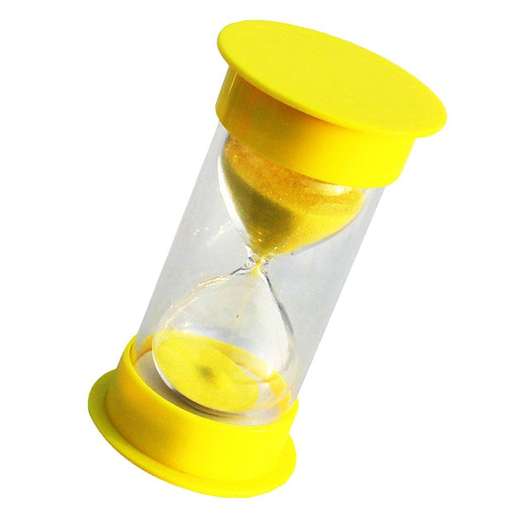 MagiDeal 15 Minutes Hourglass Timer Yellow Lid & Sand AEQW-WER-AW129210