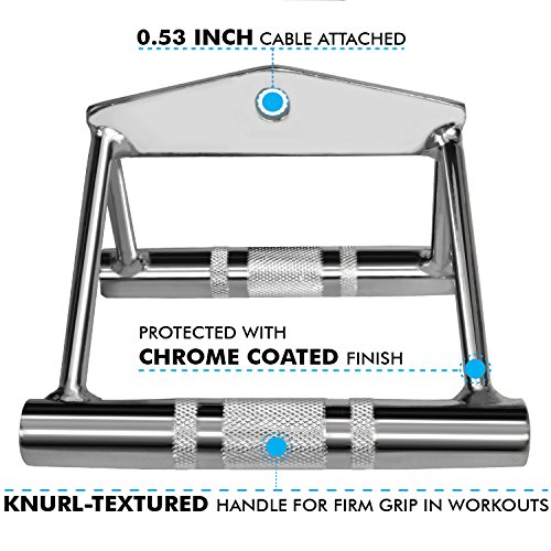 A2ZCARE Combo Tricep Press Down Cable Attachment | Multi-Option: Double D Handle, V-Shaped Bar, Tricep Rope, Rotating Straight Bar (V Handle+Tricep Rope+Rotating Bar+V-Shaped Bar) by A2ZCARE (Image #2)