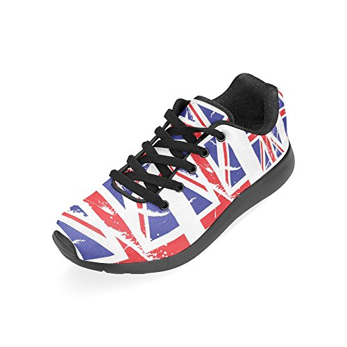 Interesprint Mujeres Road Running Zapatos Jogging Ligero Deportes Walking Athletic Sneakers British Flag