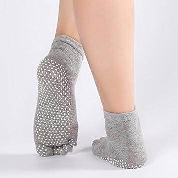 Liuxc Calcetines de yoga Calcetines de Yoga, Calcetines de Yoga para señoras, algodón,