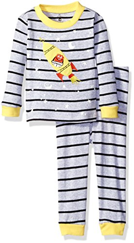 Petit Lem Boys' Space 2 Piece Pajama Set, Gray, 24M ()