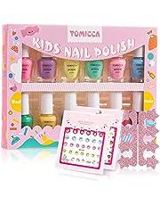 TOMICCA Kids Nail Polish Set Candy Rainbow Colors