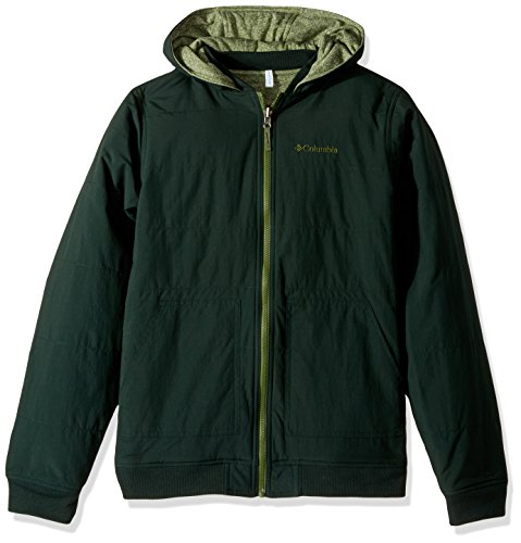 Columbia Little Boys' Evergreen Ridge Reversible Jacket, Deep Woods, Pesto Heather, XX-Small Breathable Fleece Reversible Jacket