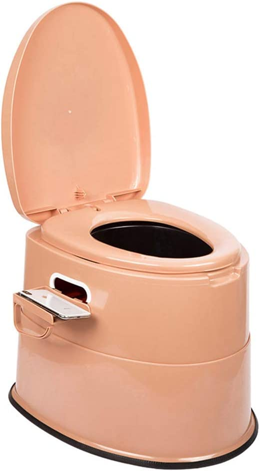 Portable Toilet for Indoor and Outdoo Lightweight and Portable Camping Toilet with Handles and Roll Holder