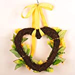 BESTOYARD-Door-Wreath-Summer-Sunflowers-Heart-Shape-Garland-Front-Porch-Entry-Staircase-Wall-Decoration-30cm