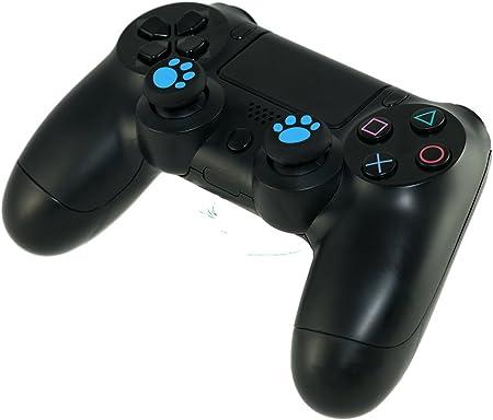 GAMINGER Juego de protectores de palancas de Control Dualshock de PlayStation 4 PS4 - huellas - verde: Amazon.es: Videojuegos