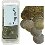 Rockin Beads Brand, 200 Antiqued Brass Plated Alloy Stamping Blanks Tags Round Charm Pendants 20mm 6/8 Inch