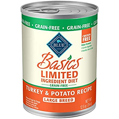 Blue Buffalo Blue Basics Lid & Grain Free Large Breed Turkey Canned Adult Dog Food