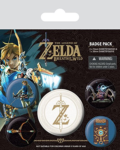 AMBROSIANA Pyramid International The legend of Zelda: Breath of the Wild Z emblema distintivo, multicolore, 10 x 12.5 x 1.3 cm BP80598 Gadget