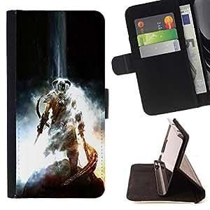 BullDog Case - FOR/LG G3 / - / Dragonborn Warrior /- Monedero de cuero de la PU Llevar cubierta de la caja con el ID Credit Card Slots Flip funda de cuer