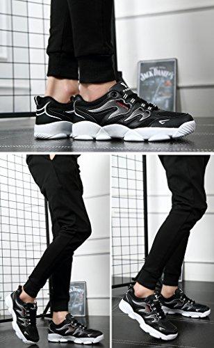 2017 Männer Leichte Low-Top Sneakers Casual Wanderschuhe Basketball Schuhe 39-44 Black