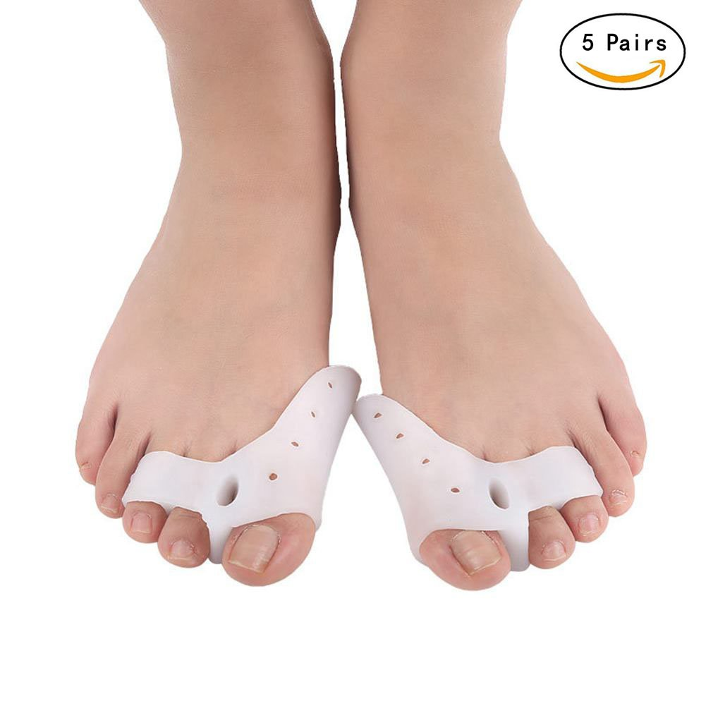 5 Pairs Toe Separators Straighteners Spreader,Overlapping Toes Correctors,Foot Care Tool for Women and Men,Gel Soft Toe Stretchers Spacers Protector