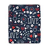 My Little Nest Hearts Arrows Rings Love Cozy Throw Blanket Lightweight Microfiber Soft Warm Blankets Everyday Use for Bed Couch Sofa 50'' x 60''