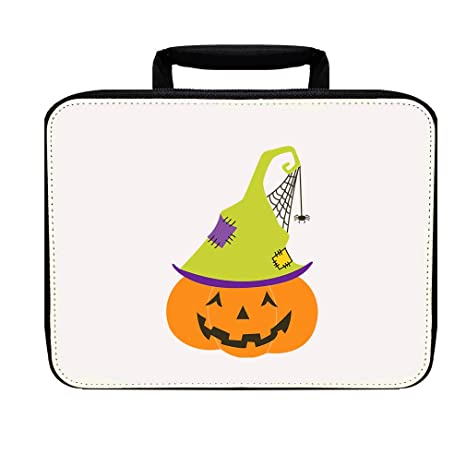9973afe2f69f Amazon.com: Pumpkin Old Green Witch Hat Nylon Insulated Lunch Box ...