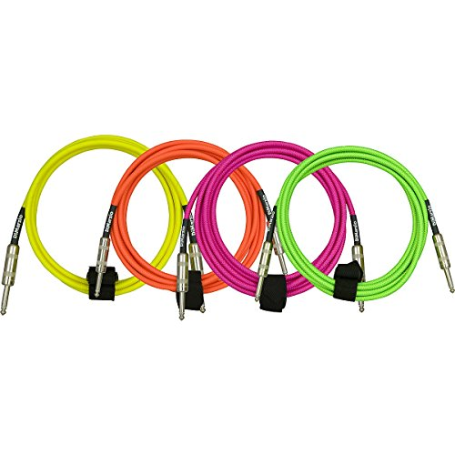 DiMarzio Neon Overbraid Instrument Cable Pink 18 ft. by DiMarzio