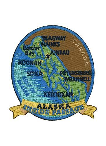 Alaska National Park Logo Flag Patch Series Embroidered Sew/Iron on Badge DIY -