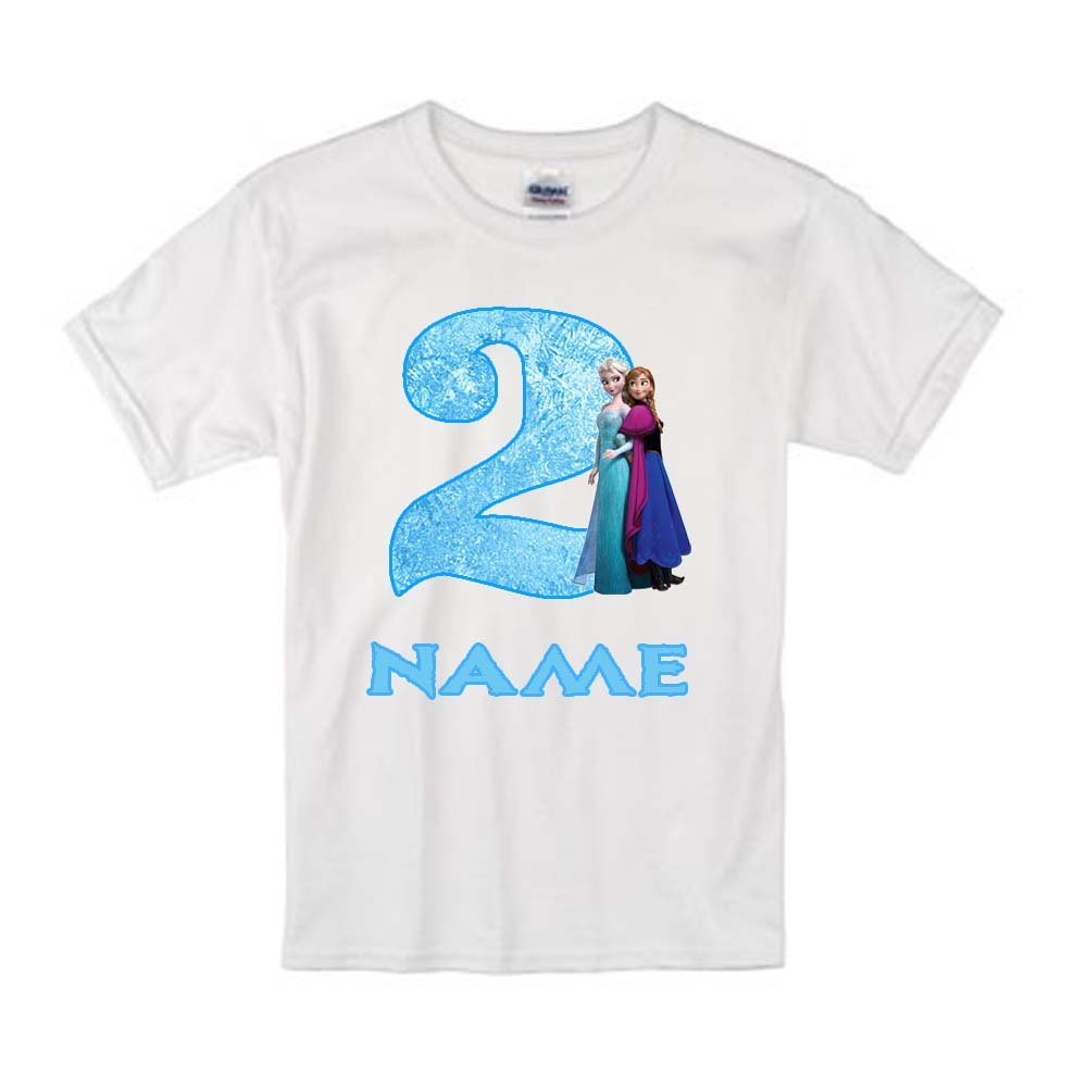 d3f9c586173 Sprinklecart Elsa   Anna Personalized Kids Lovely Birthday Gift T-Shirt  (20) White  Amazon.in  Clothing   Accessories