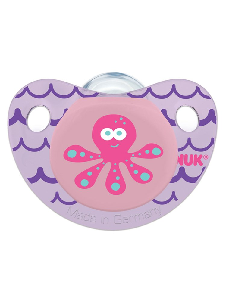 NUK Cute as a Button Pacifier, (Purple)