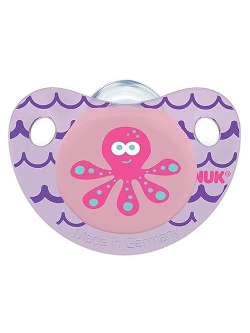 NUK Cute as a Button Pacifier, (Purple)