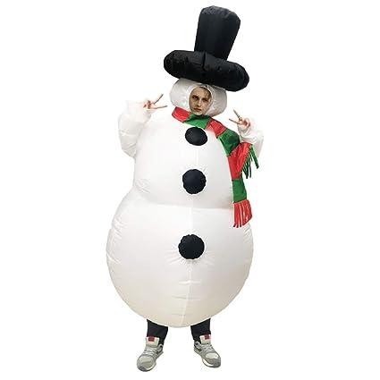 Factorys Muñeco de nieve inflable navideño Disfraz de Cosplay ...