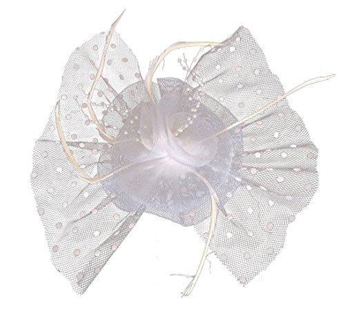 (Flywife Fascinators Hair Clip Headband Flower Mesh Bow Feather Dot Veil Party Wedding)