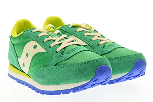 Colorée De garçon Fille Lacets Chaussure Saucony Ou La Confortable Sport Mode Et Green Geko À Synthétique Grise En Suède Enfant qvxf5wf4
