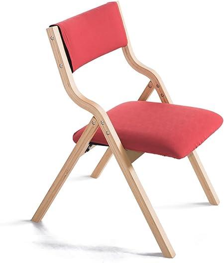 Chaise Bois Chaise Pliante Simple Moderne Maison Tissu à