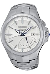 Seiko SRN063 Men's Coutura Silver Bracelet Band White Dial Watch
