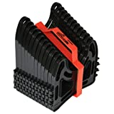 Camco 15ft Sidewinder RV Sewer Hose Support, Made From Sturdy Lightweight Plastic, Won't Creep Closed, Holds Hoses In Place - No Need For Straps