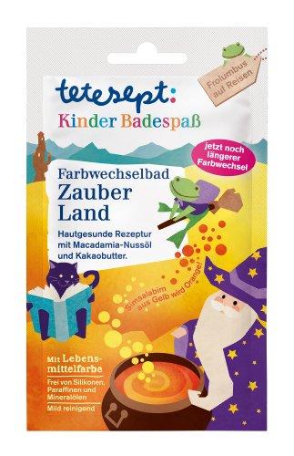 Tetesept Farbwechselbad Zauber Land, 10er Pack (10 x 50 g)