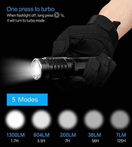 Linterna recargable linterna Wuben llevó 3 * CREE XP-G3 IPX8 impermeable Mini antorcha lámpara de la antorcha de energía 1200 lúmenes con 5 modos, ...