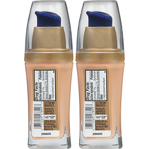 L'Oreal Paris Cosmetics Visible Lift Serum Absolute Foundation, Natural Buff, 2 Count