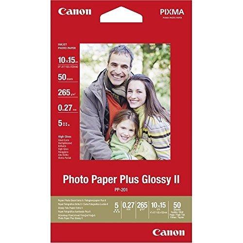 91 opinioni per Canon 2311B003 PP-201 Carta Fotografica- 10 x 15 cm, 265 g/m2, Pacco da 50