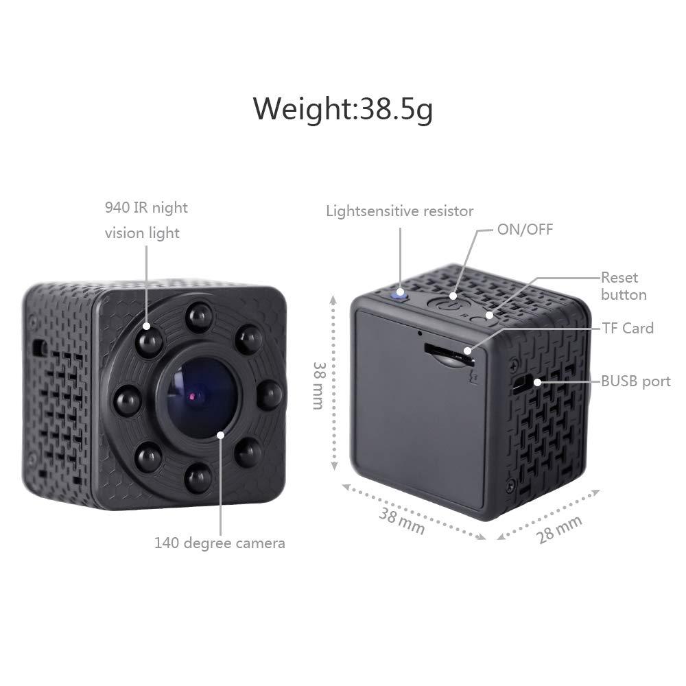 Wimaker Mini WiFi Cámara espía IP con visión Nocturna para el hogar Cámara de vigilancia de Seguridad inalámbrica con Dos vías de Voz Intercom ...